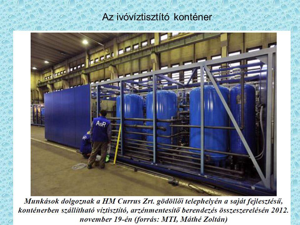 Az ivóvíztisztító konténer