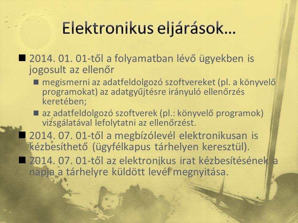 Elektronikus eljárások…