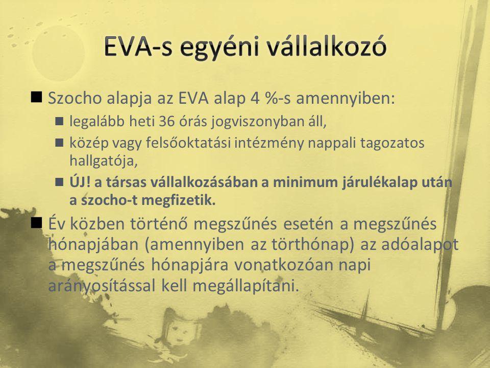 EVA-s egyéni vállalkozó