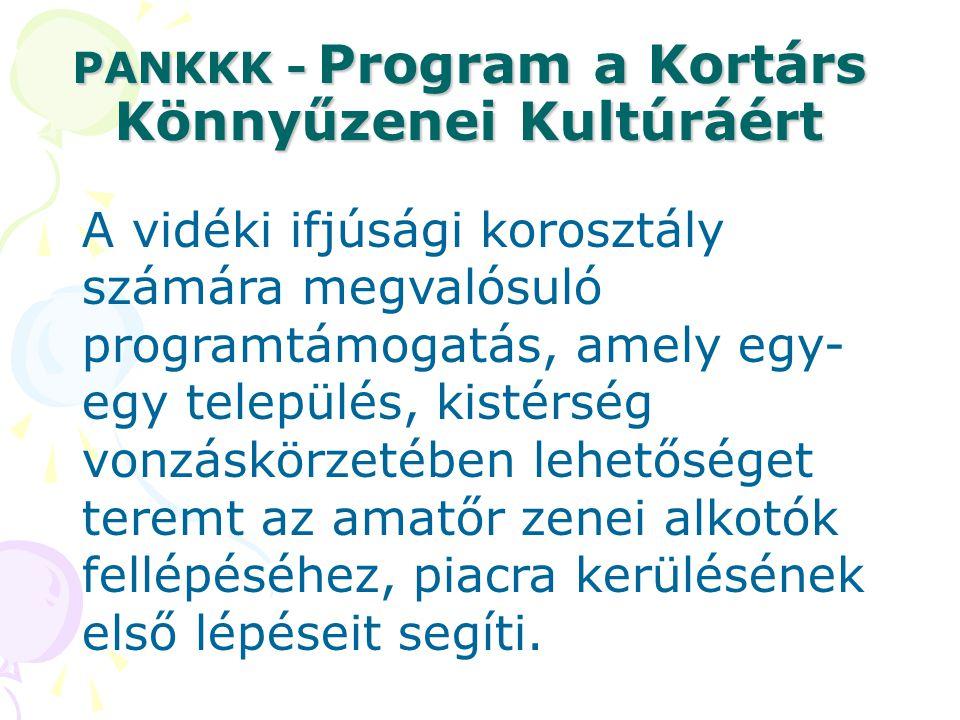 PANKKK - Program a Kortárs Könnyűzenei Kultúráért