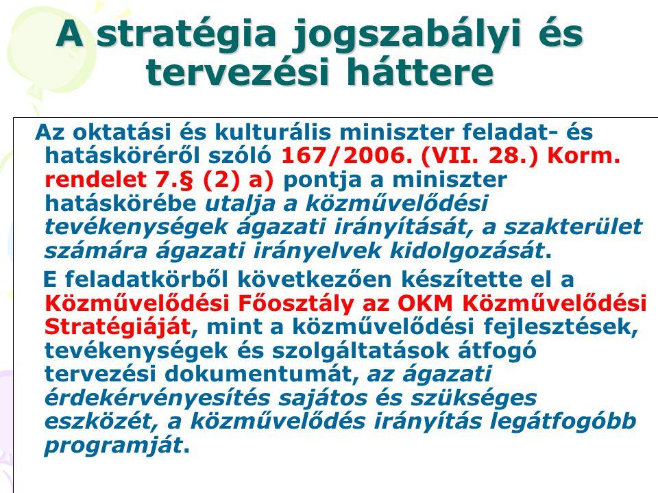 A stratégia jogszabályi és tervezési háttere