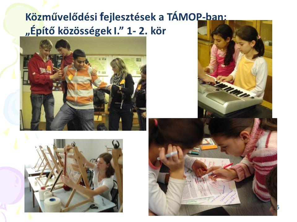 """Közművelődési fejlesztések a TÁMOP-ban: """"Építő közösségek I. 1- 2"""