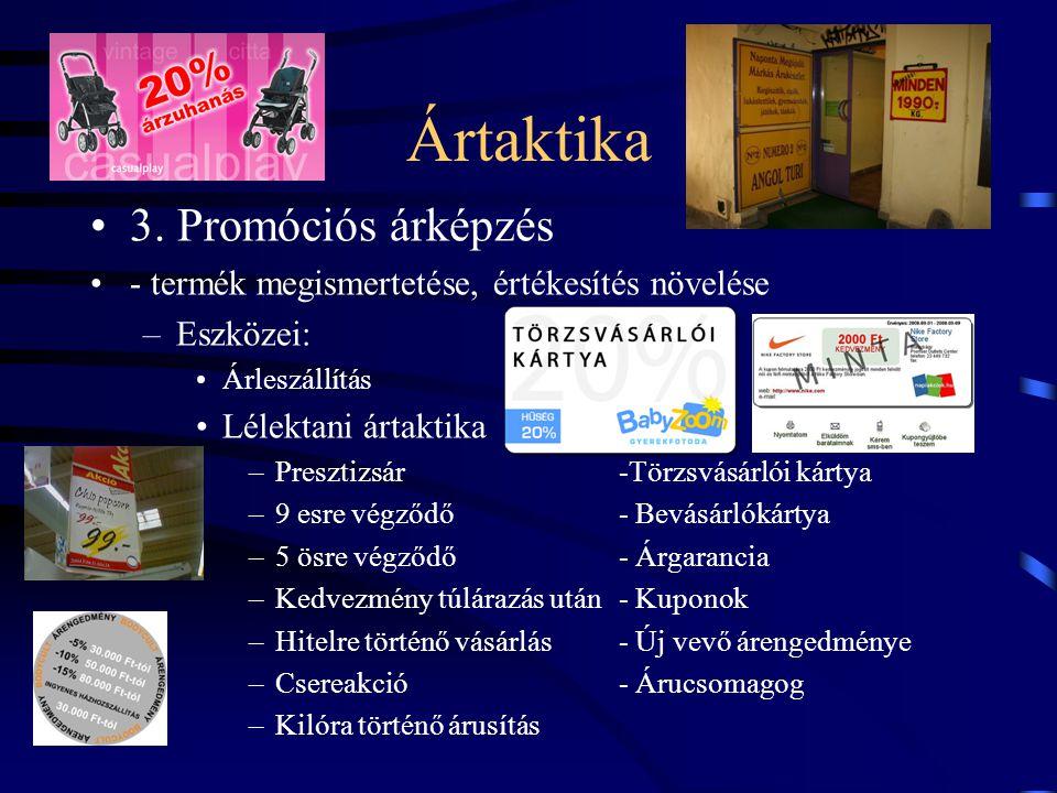 Ártaktika 3. Promóciós árképzés