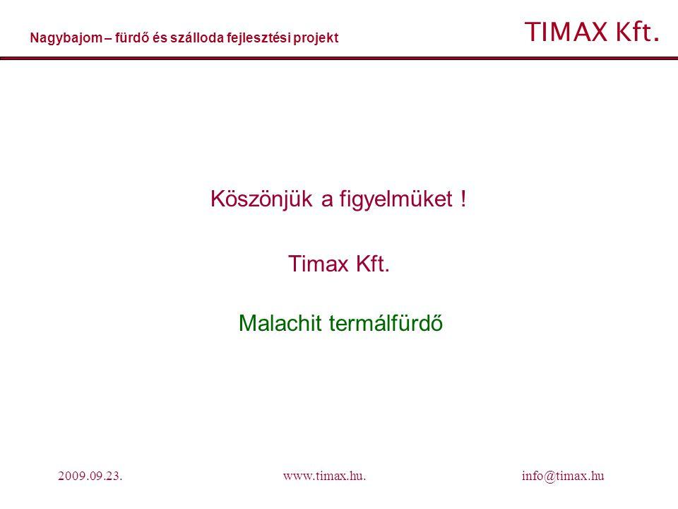 Köszönjük a figyelmüket ! Timax Kft.