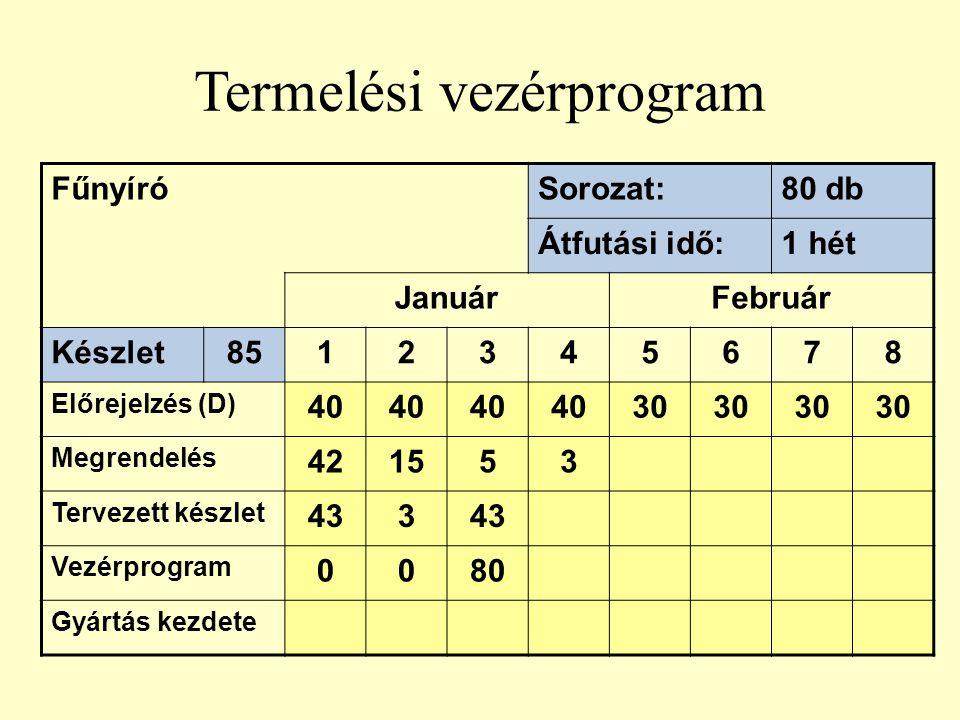 Termelési vezérprogram