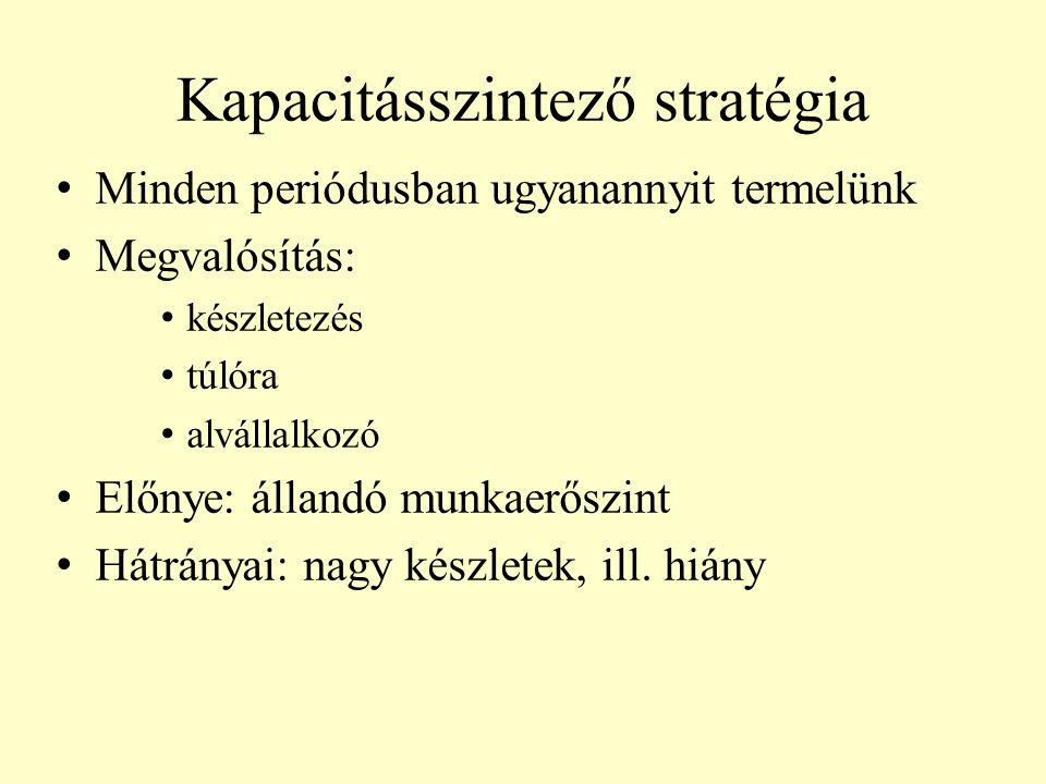 Kapacitásszintező stratégia