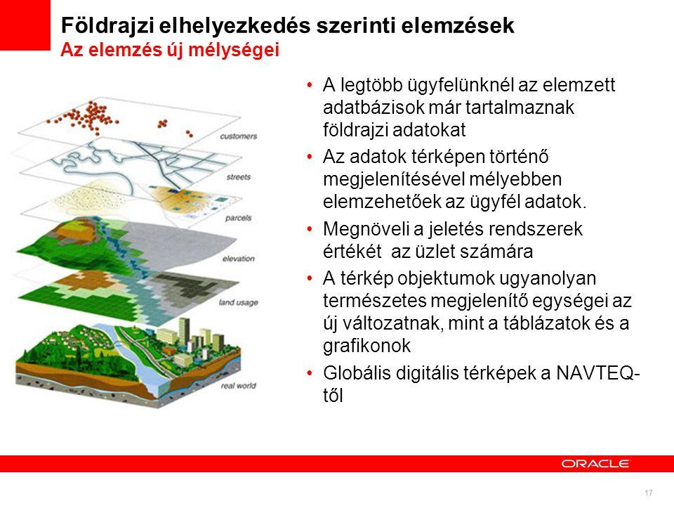Földrajzi elhelyezkedés szerinti elemzések Az elemzés új mélységei