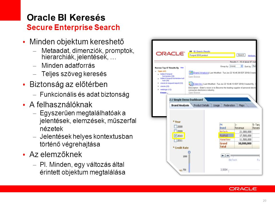 Oracle BI Keresés Secure Enterprise Search
