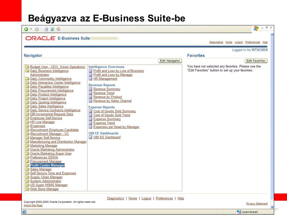 Beágyazva az E-Business Suite-be Pervasive Deployment