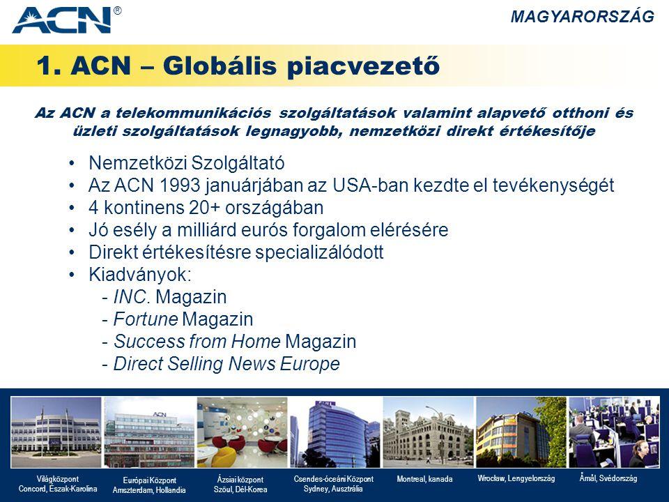 1. ACN – Globális piacvezető