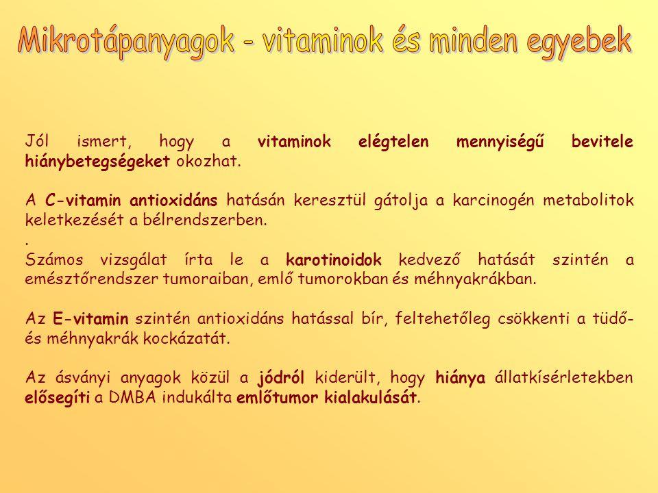 Mikrotápanyagok - vitaminok és minden egyebek