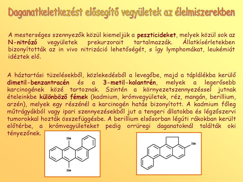 Daganatkeletkezést elősegítő vegyületek az élelmiszerekben
