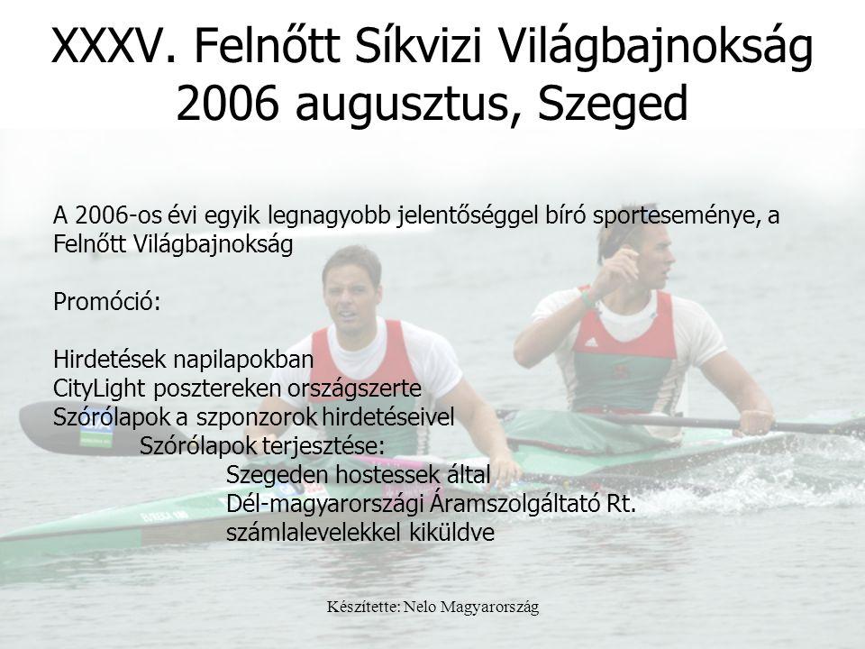 XXXV. Felnőtt Síkvizi Világbajnokság 2006 augusztus, Szeged