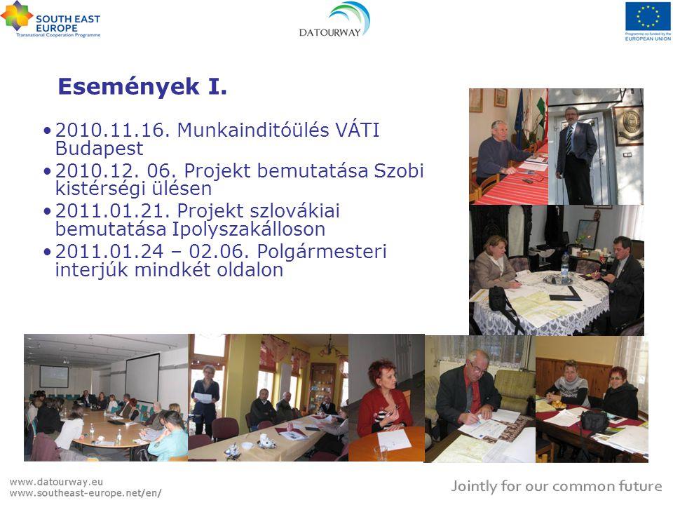 Események I. 2010.11.16. Munkainditóülés VÁTI Budapest