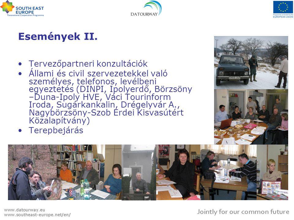 Események II. Tervezőpartneri konzultációk