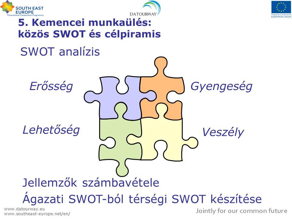 5. Kemencei munkaülés: közös SWOT és célpiramis
