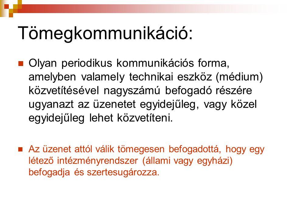 Tömegkommunikáció: