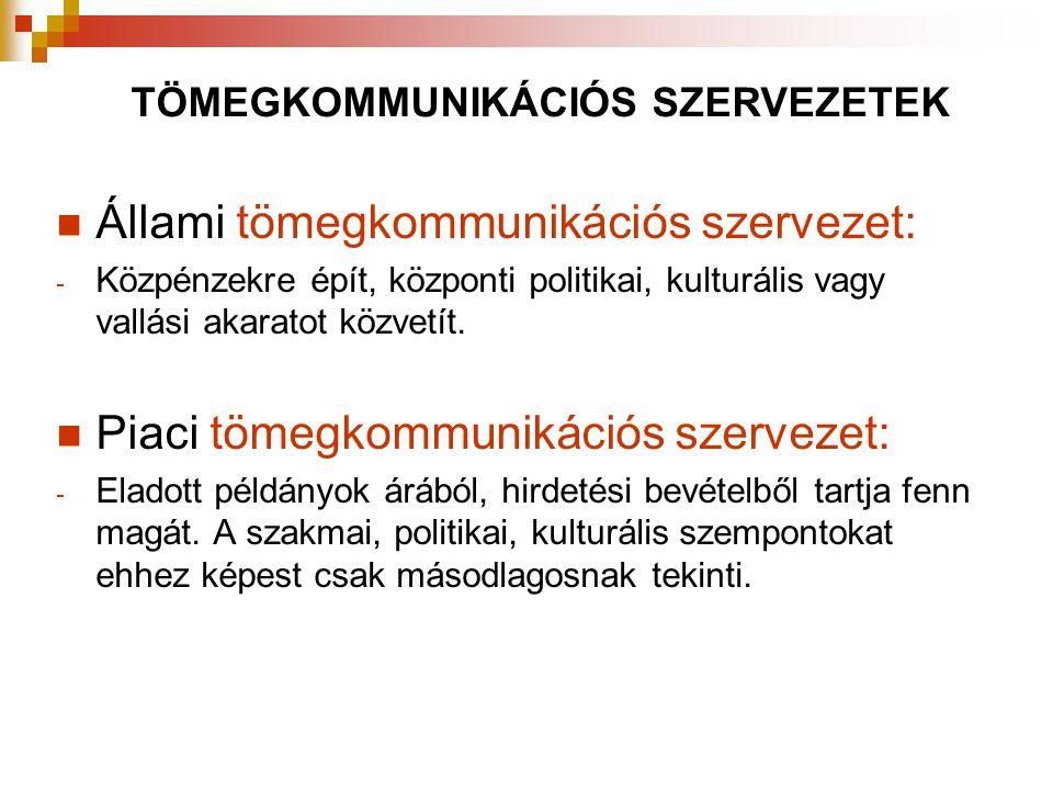 Állami tömegkommunikációs szervezet: