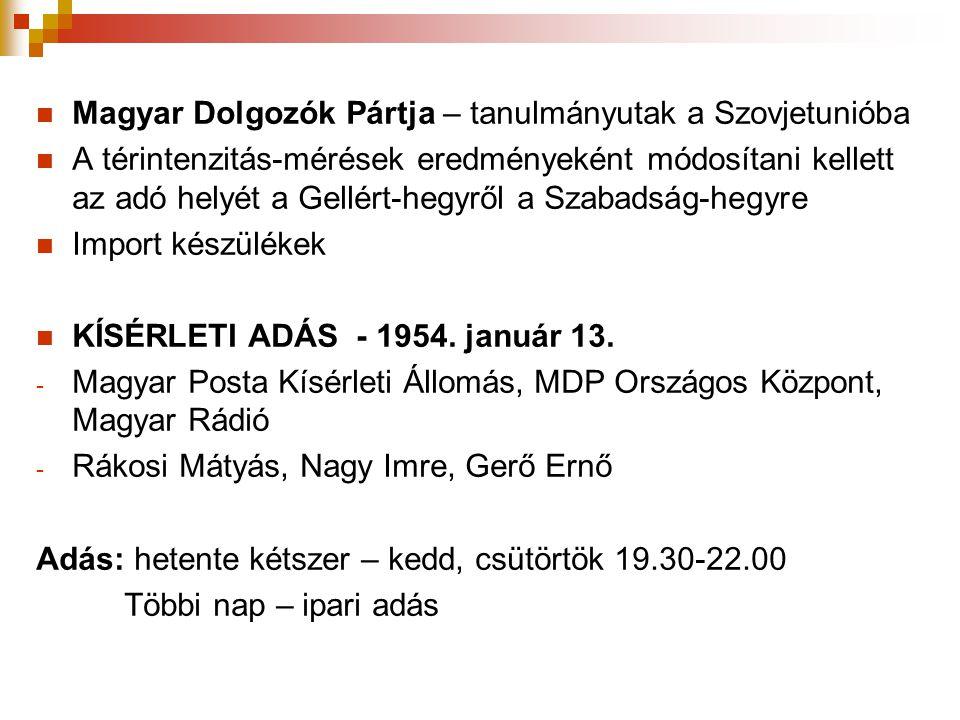 Magyar Dolgozók Pártja – tanulmányutak a Szovjetunióba