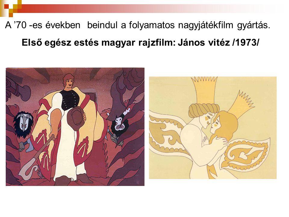 Első egész estés magyar rajzfilm: János vitéz /1973/