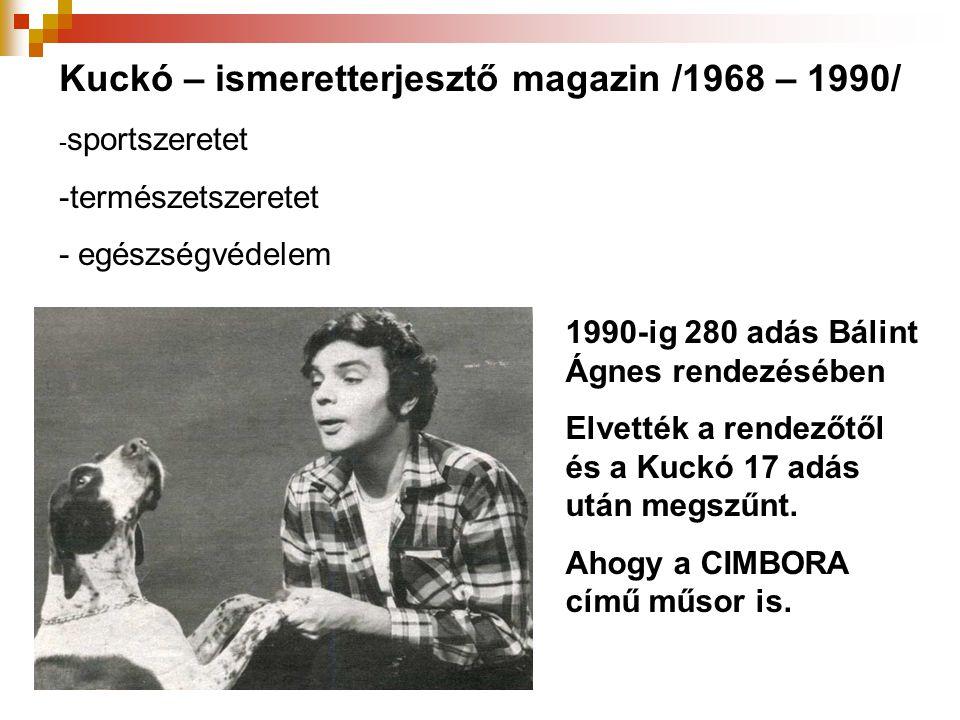 Kuckó – ismeretterjesztő magazin /1968 – 1990/