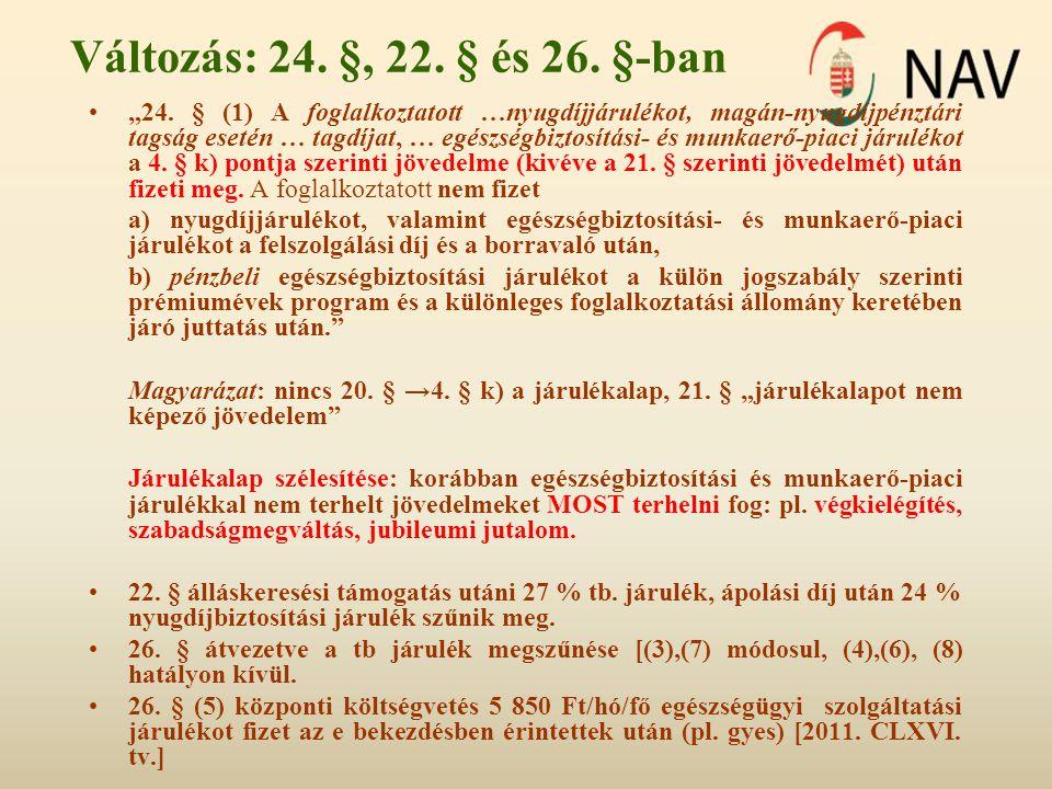 Változás: 24. §, 22. § és 26. §-ban