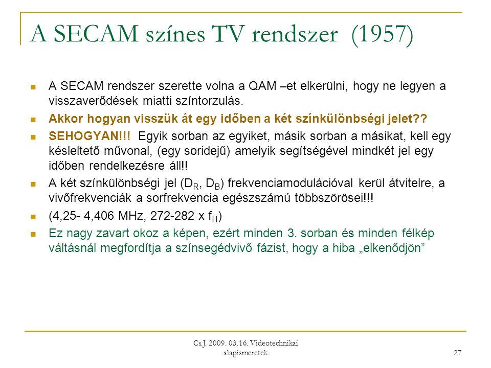 A SECAM színes TV rendszer (1957)