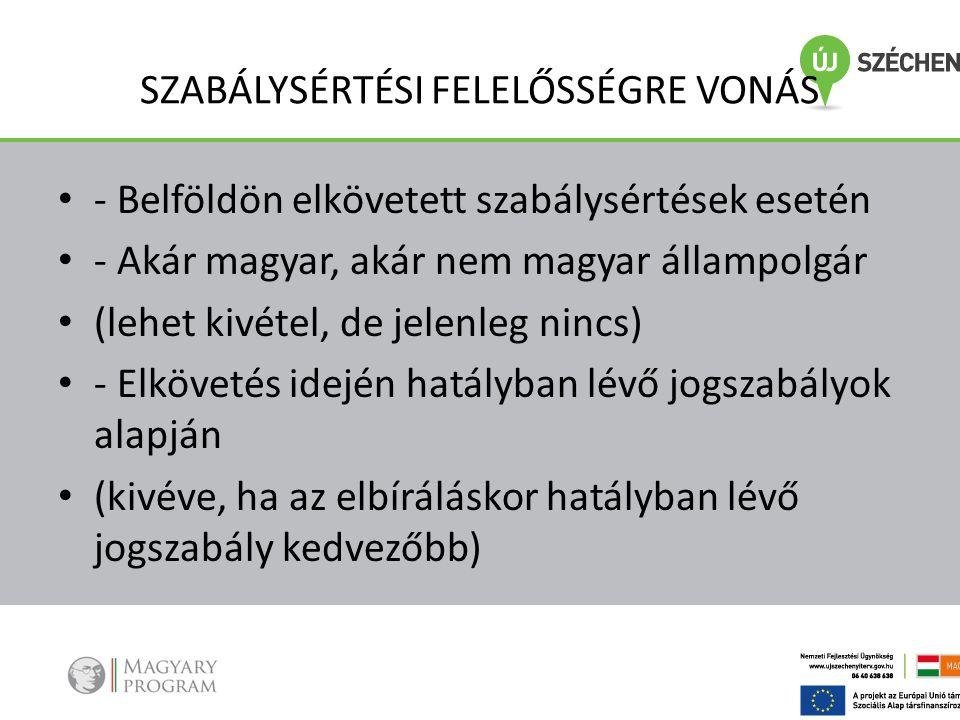 SZABÁLYSÉRTÉSI FELELŐSSÉGRE VONÁS