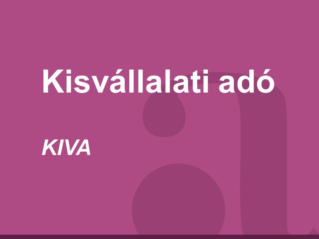 Kisvállalati adó KIVA