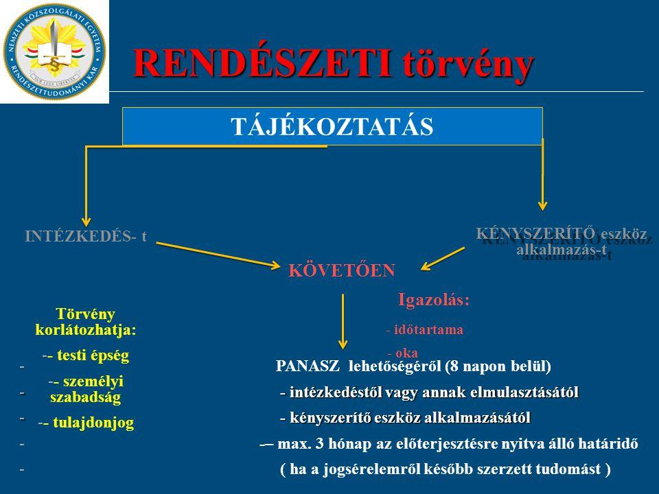 Törvény korlátozhatja: KÉNYSZERÍTŐ eszköz alkalmazás-t