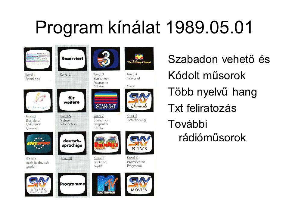 Program kínálat 1989.05.01 Szabadon vehető és Kódolt műsorok