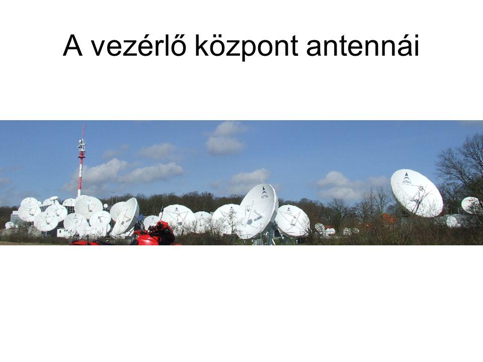A vezérlő központ antennái