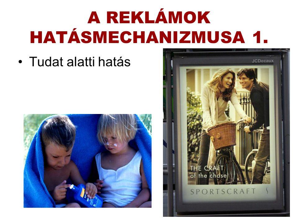 A REKLÁMOK HATÁSMECHANIZMUSA 1.