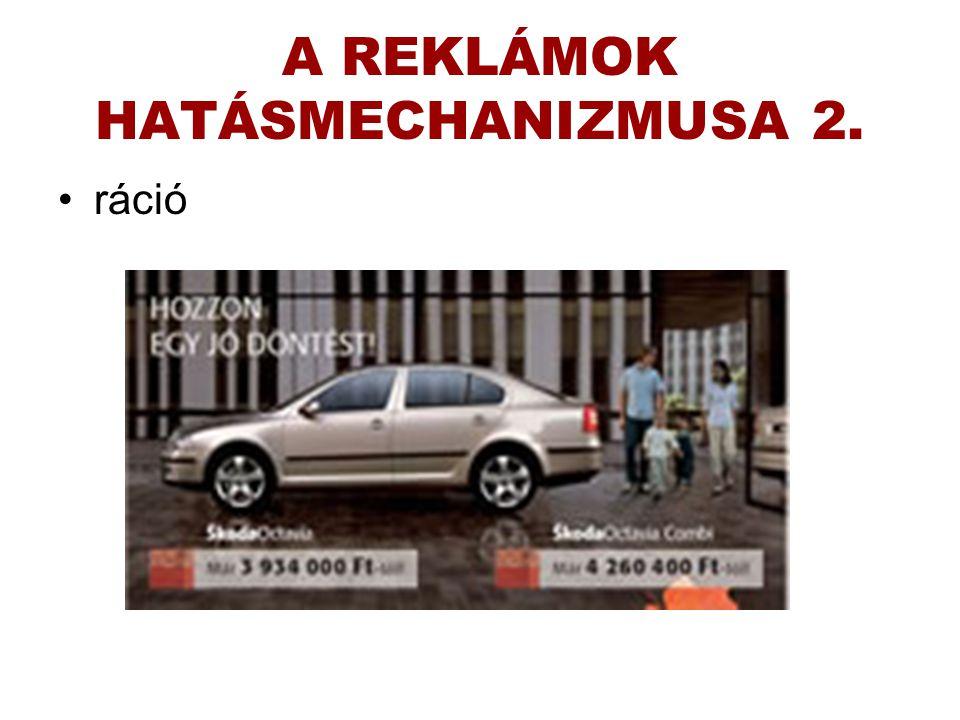 A REKLÁMOK HATÁSMECHANIZMUSA 2.