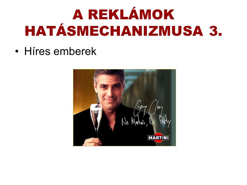 A REKLÁMOK HATÁSMECHANIZMUSA 3.