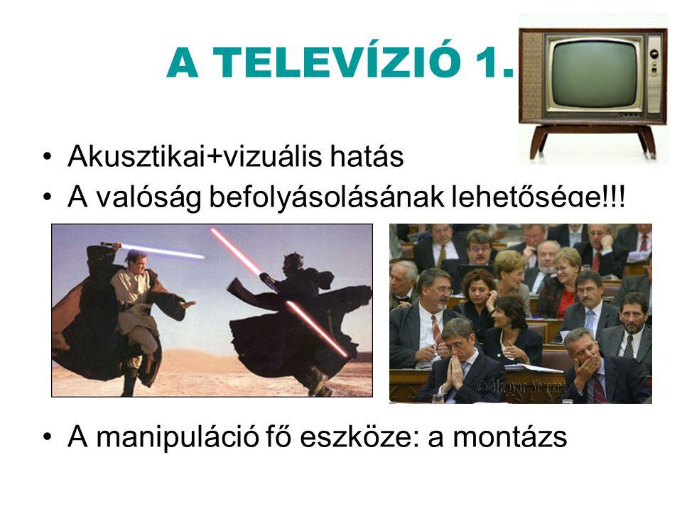 A TELEVÍZIÓ 1. Akusztikai+vizuális hatás