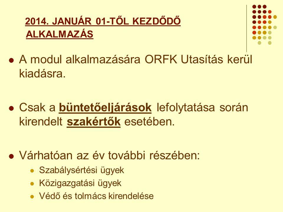 2014. JANUÁR 01-TŐL KEZDŐDŐ ALKALMAZÁS