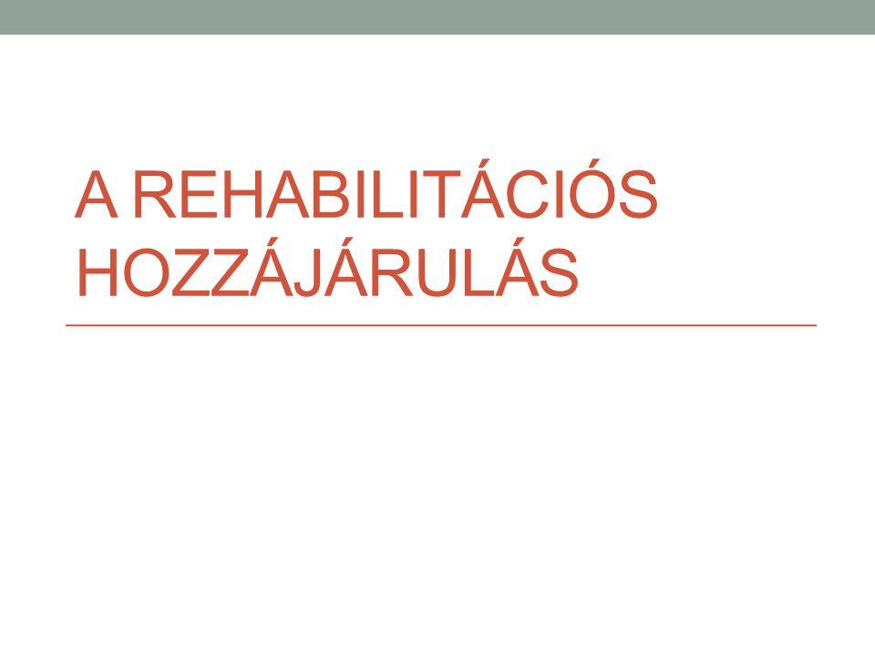A rehabilitációs hozzájárulás