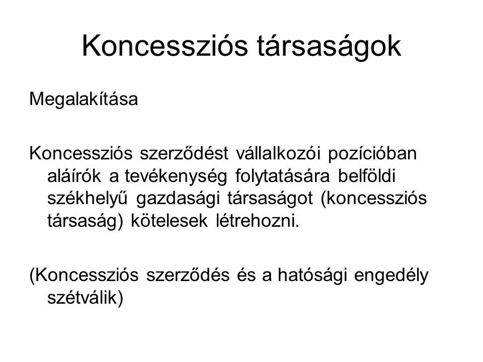 Koncessziós társaságok