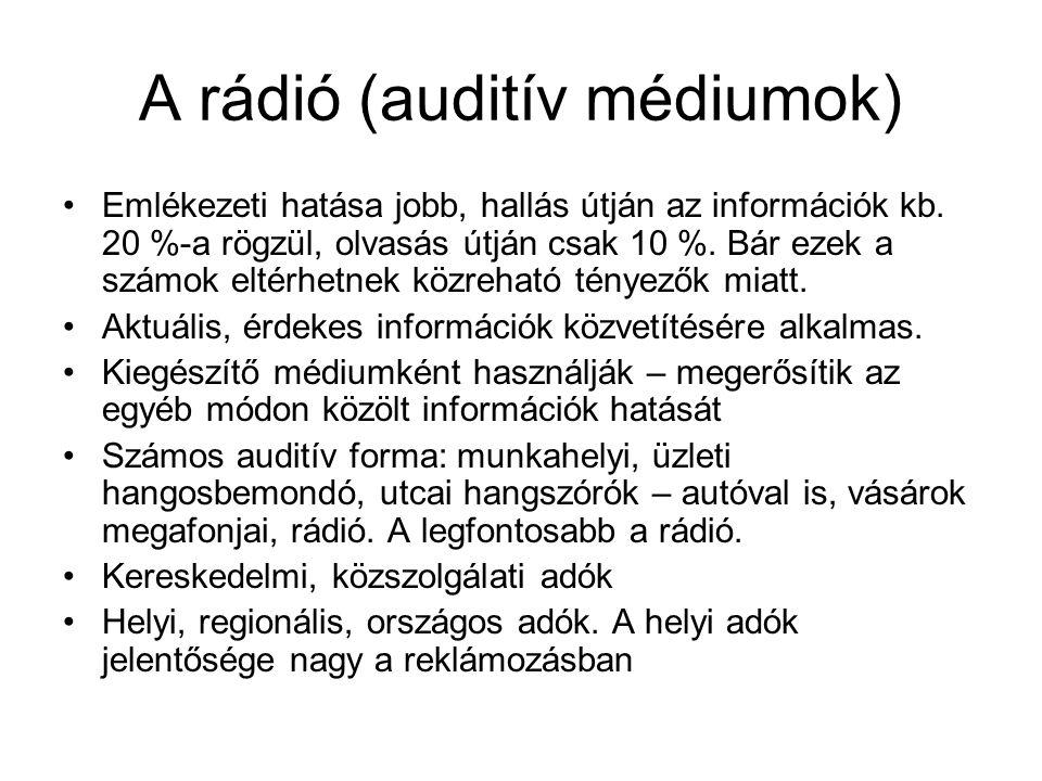 A rádió (auditív médiumok)