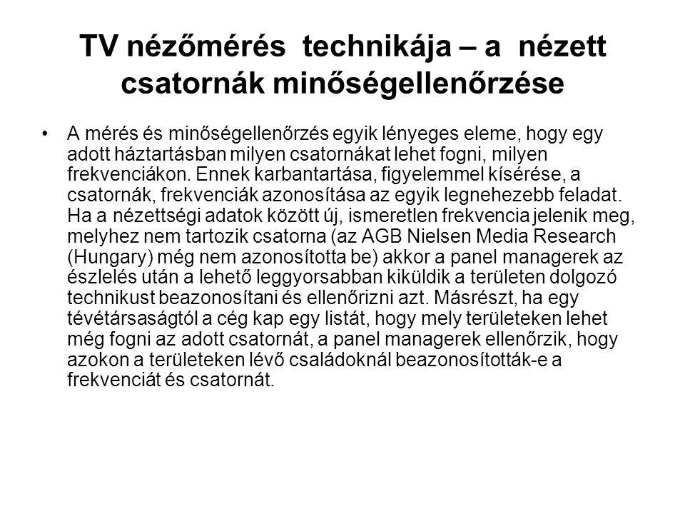 TV nézőmérés technikája – a nézett csatornák minőségellenőrzése