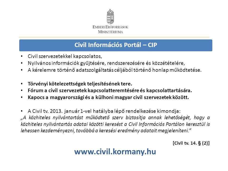 Civil Információs Portál – CIP