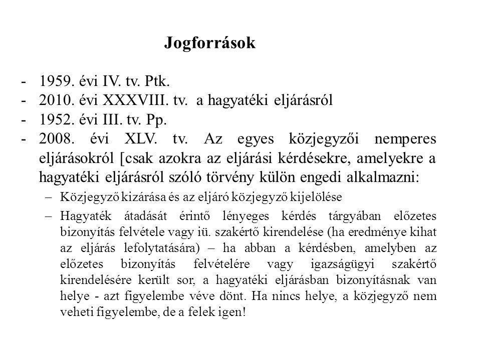 Jogforrások 1959. évi IV. tv. Ptk.