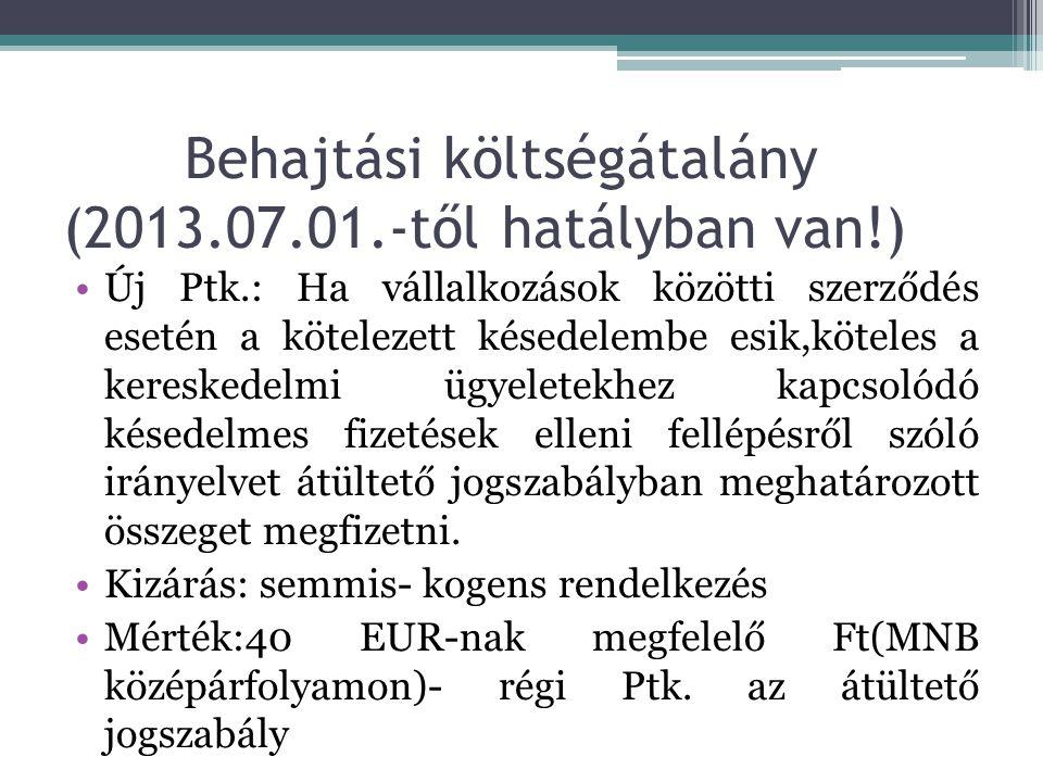 Behajtási költségátalány (2013.07.01.-től hatályban van!)