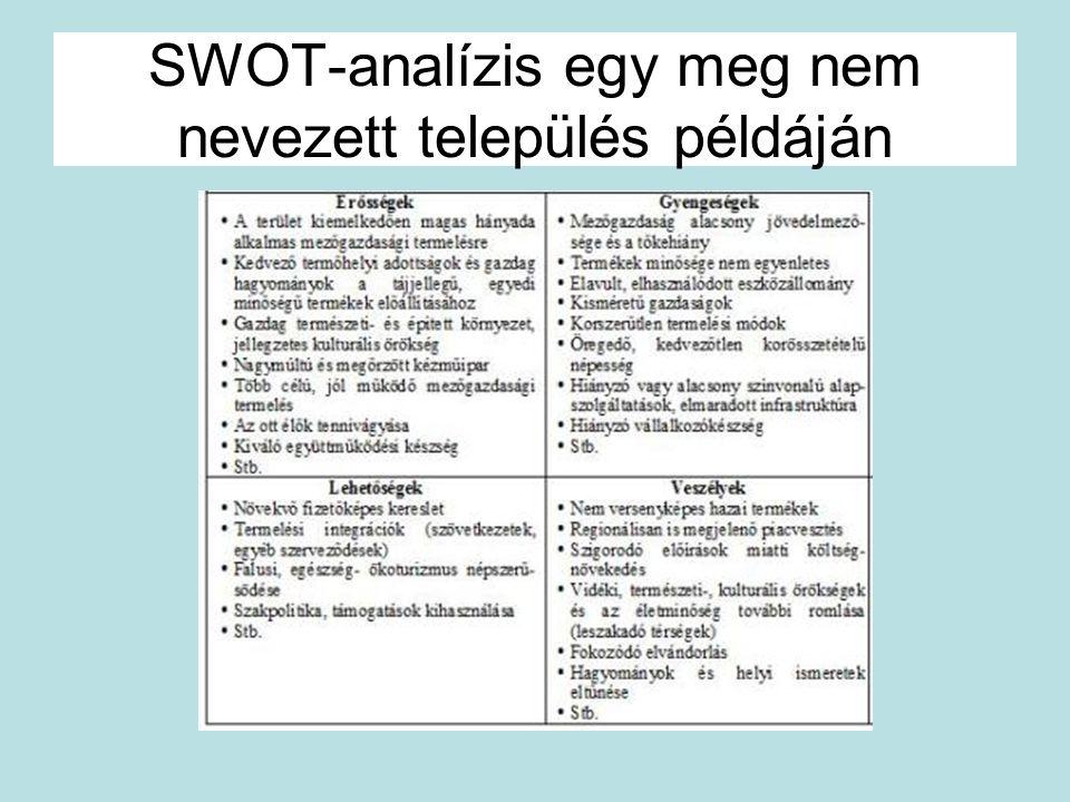 SWOT-analízis egy meg nem nevezett település példáján