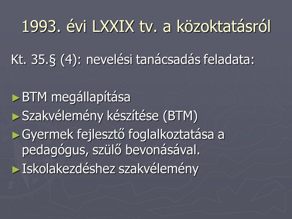 1993. évi LXXIX tv. a közoktatásról
