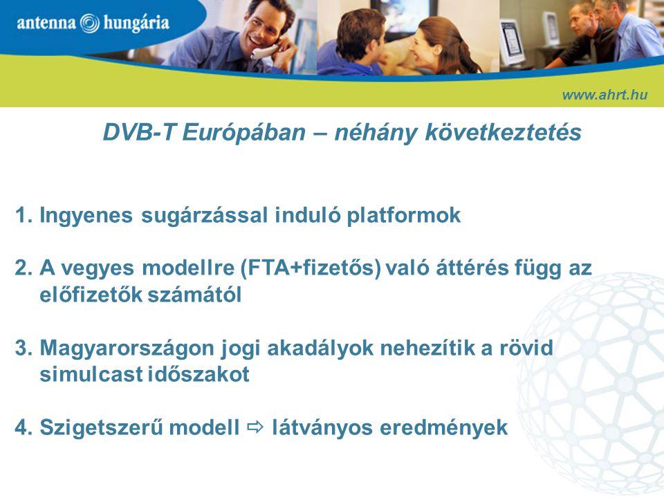DVB-T Európában – néhány következtetés