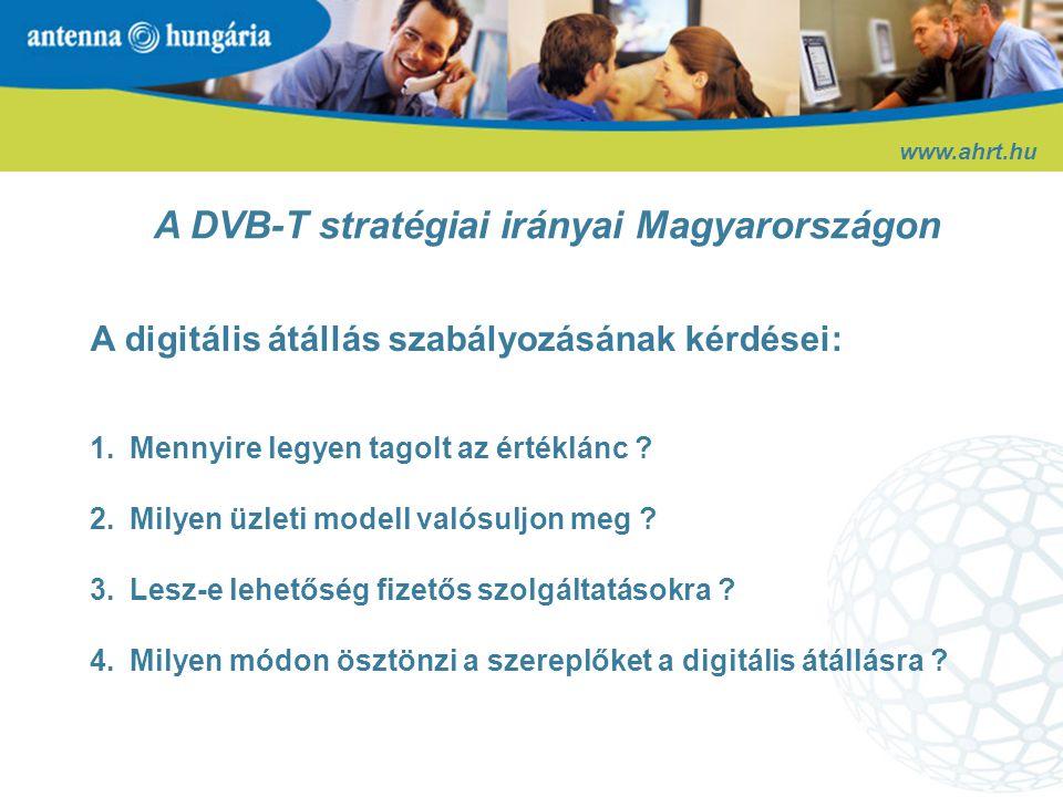 A DVB-T stratégiai irányai Magyarországon