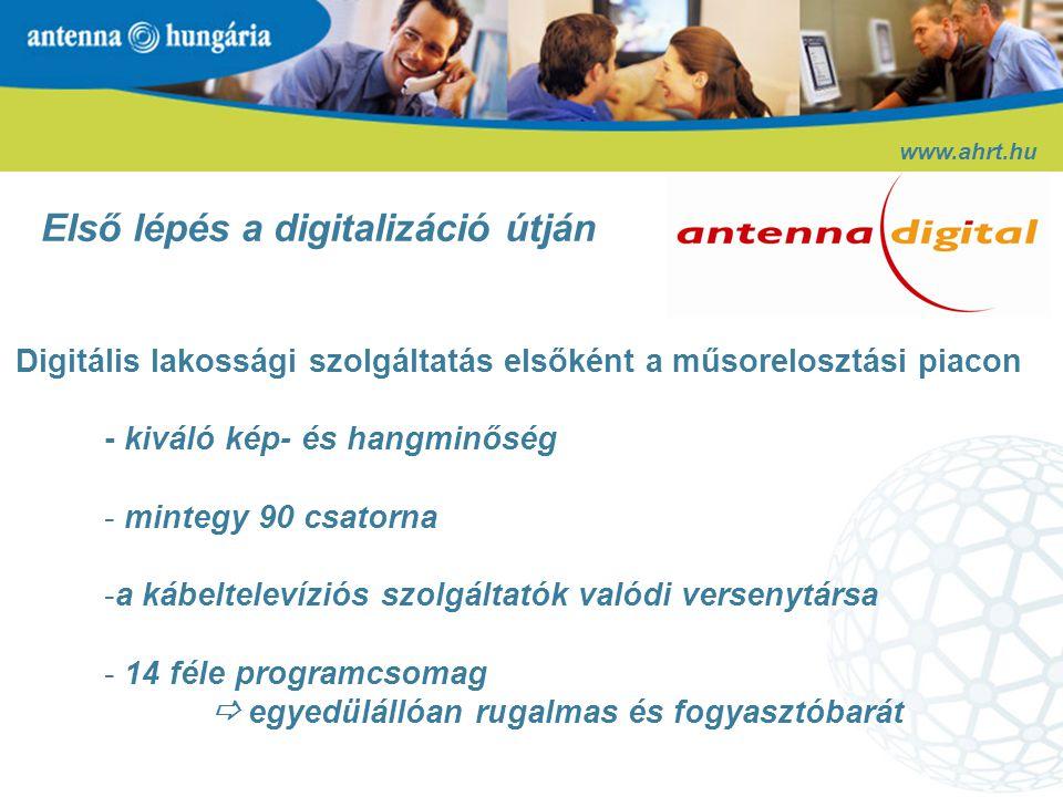 Digitális lakossági szolgáltatás elsőként a műsorelosztási piacon