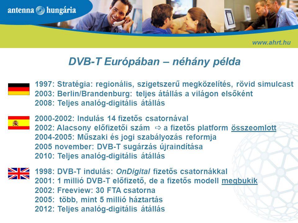 DVB-T Európában – néhány példa